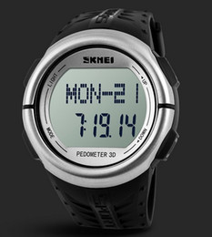SKMEI Heart Rate Monitor and Pedometer 2 in 1 Digital watch 5ATM Water Resistant Chrono Alarm Wristwatch 1058