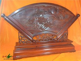Wholesale Red sandalwood carved double sided screen seat table plaque screen Qing style mahogany furniture Classical furniture Decoration