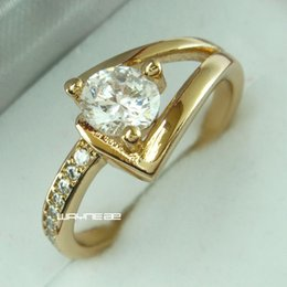 Round Cut Sz8 Women Sapphire 18k Gold Filled Fashion Engagement Ring (r263)