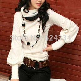 blusas femininas 2014 Elegant Woman's Tops Autumn Winter Cotton Long sleeved Shirt Women Blouses