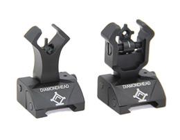Diamondhead DIAMOND Combat Flip-Up Rear & Front Sight for Picatinny Rail Black