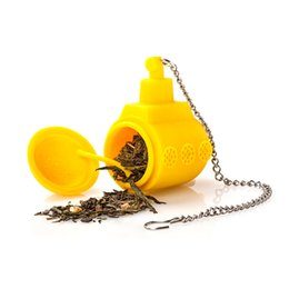 Wholesale 2016 Yellow Creative Cartoon Submarine Tea Infuser Silicone Loose Leaf Strainer Herbal Filter Diffuser Tea Infusor