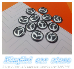 Wholesale 50pcs cm Mazda logo car styling Remote key fob emblem sticker Auto key Shell badge Self adhesive accessories