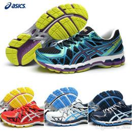 Wholesale 2015 Nueva marca Asics Cushion Gel Kayano zapatos corrientes para los hombres barato ligero T3N2N alta apoyo zapatillas de deporte tamaño EUR