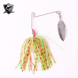 Spinner приманки головы для продажи-Новое прибытие 5 ПК / серия Spinner Bait Вращающийся Single Ложка рыболовную приманку 13 / 16g Ведущий руководитель Hook приманки многоцветный