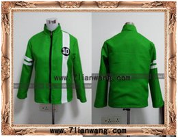 Wholesale BEN Green JACKET Aliens Force kids boys cosplay Benjamin irby Tennyson costume and Halloween Cloth any size