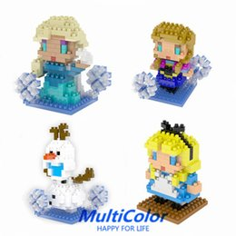 Building Toy Elsa Anna Olaf 3inch 7.5cm building block decoration 2015 new action figure free shipping wholesale