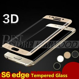 Wholesale Note S7 Edge S7 S6 Edge S6 Edge Plus Note Edge Full Cover D Curved Side Tempered Glass Screen Protector MM
