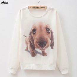 Wholesale Ada Top hot design big head cartoon dog print casual sweatshirt Women s hoodies cotton thin pullovers colors YXH13