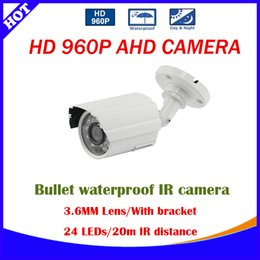 Wholesale Hot Best HD P CCTV Camera AHD TVL Outdoor White Gray Mini Metal Bullet IR CUT Security Cam MP Video Surveillance