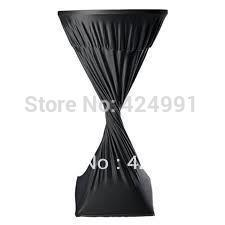 Wholesale Extra Large quot Round x quot Height Black Lycra dry bar cover Cocktail table cover for wedding event amp party