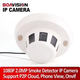 2017 dôme intérieur caméras ip H.264 HD en temps réel 1080P 2.0 Mp Réseau 1920 * 1080 Style de fumée IP caméra dôme P2P / Plug Play Indoor CCTV Covert Caméra cachée Support Onvif bon marché dôme intérieur caméras ip