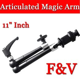 Wholesale F V quot Inch Stainless Steel Articulated Magic Arm fr LCD Monitor LED Light Cam Freeshipping