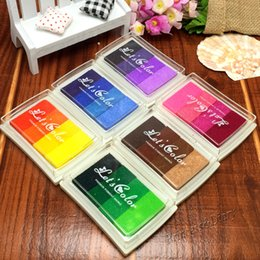 Wholesale Creative DIY Oil Colors Rubber Stamps Ink Pad for Vivid Scrapbook Albums Card making Craft Fingerprint Tree