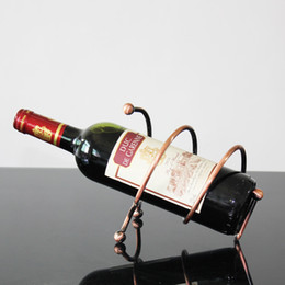 Wholesale 2pcs Creative home bar wine bottle holder home decor Continental Iron wine rack wine rack wine cooler decorations