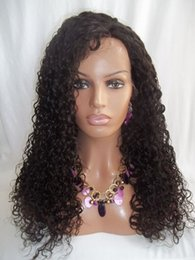 Natural Color Loose Kinky Curl Lace Front Wigs Virgin Brazilian Human Hair Lace Wigs For Black Women In Stock