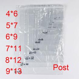 Pequeñas bolsas de plástico adhesivo transparente en Línea-PE Bolsas de plástico transparente Zip cerraduras Ziplock Zipper Poly OPP Autoadhesivo sello embalaje Empaquetado para la venta al por menor 7C Recyclable Small Post