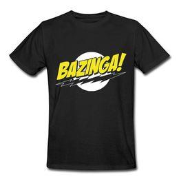 Wholesale 2016 Promotion Bazinga Symbol Pattern T shirt Cotton O neck The Big Bang Theory T Shirt Summer Casual Male Tee Shirt