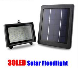 Wholesale-30 LED Solar Outdoor Lights Lamps Solar Powered Panel LED Path Lawn Landscape Decoration Lights Solar Street Lampada Solar