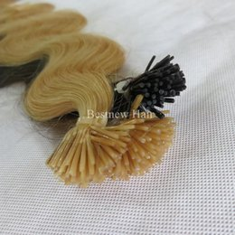 "16"" 18"" 20"" 22"" 24"" Blond Wavy INDIAN Remy Stick I Tip Human Hair Extensions 100g pk 1g s 613#"