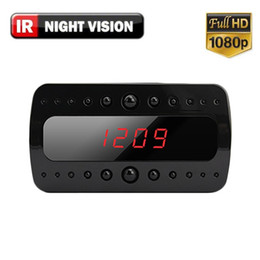 Promotion enregistrement vidéo en continu 1080p HD Hidden Nanny Cam Wifi Dvr Réveil avec vision nocturne 1920x1080 W / Wireless Streaming Video / Mobile Viewing / Enregistrement de carte SD