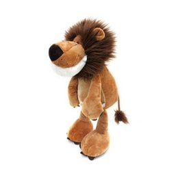 Wholesale 30pcs cm NICI Lion Plush Toy Anime Movies TV Jungle Brothers Hot Toys Cartoon Animal Lion Stuffed Collectibles Doll Toys Kids Baby Gifts