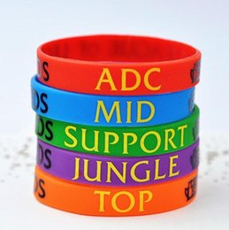 Wholesale League of Legends silicone bracelets men women wristband Game fans souvenir LOL games cuff GEL wrist band children Day gift best