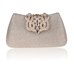 Wholesale Many Color Vintage Luxury Bridal Hand Bage Crystal Rhinestone Evening Party Clutches Bridal Clutches Wedding Accesspries Bag In Stock ZYY