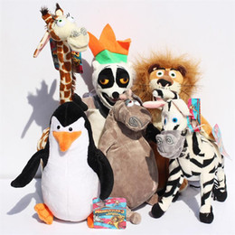 Madagascar 6 different Styles Gifts Plush Toys Stuffed Animals Giraffe Melman Plush Doll 22-36cm EMS Free shipping