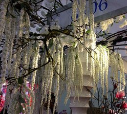 Delicate Wedding Artificial Weeping Willow Wedding Decorative Flowers Wedding Display Flowers Stage Decorations Four Colors 90CM