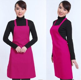 Wholesale New Adult Plain Apron with Front Pocket for Chefs Butchers Kitchen Cooking Craft UK Baking Home Cleaning Tool Coveral Apron Acces