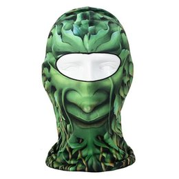 Wholesale Green Trees person Ultra Thin Breathable Fabric D Outdoor Bicycle Motorcycle Hiking Football Face Mask CS Protection Cool Mask