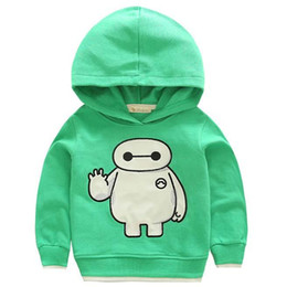 Wholesale- Hot New Big Hero 6 Hoodies Hoody Hoodie Kids Clothing Boys Hoodie 2015 Korean Autumn Sweat Shirts Children Hoodie Sweatshirts