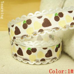 Wholesale zd073 MM Colors Single face Satin Ribbon Heart Dot Fabric Tape Fit Gift Packaging Holiday Decorations