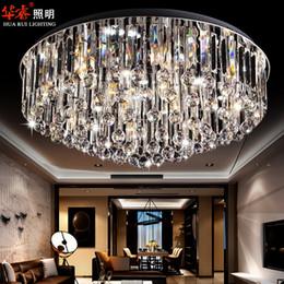 Moderna superficie de cristal circular empotrar montaje lámpara de techo de acero inoxidable accesorios de moda de cristal para los techos modernas cubiertas de luz desde montaje en el techo accesorios de iluminación proveedores