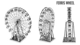 Wholesale DIY Ferris Wheel d Three dimensional nanometal miniature sculpture jigsaw puzzle ornament D Puzzle DIY Model beautiful gift