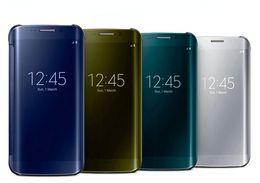2017 nuevos accesorios claros del teléfono celular de la caja del protector de la PU de la visión para la galaxia S6 G9200 de Samsung de la galaxia S6 cubren el envío libre de la PC desde teléfonos celulares casos de cuero proveedores