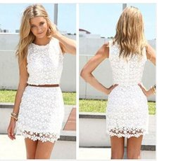 Wholesale Sexy Hollow Slim Lace Dress - 2015 new Casual dress fashion sexy lace hollow perspective Slim hip dress