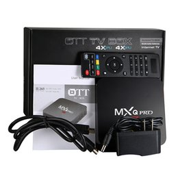 Complète android en Ligne-2017 MXQ Pro 4K TV Box RK3229 Quad Core Android 5.1 1G / 8G Kodi plein chargement Android IPTV OTT TV Boxes