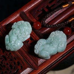 China Beautiful natural emerald carved animal presented the best gifts for Christmas gifts Free Shipping AA07
