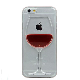 2016 Red Wine Cup Liquid Transparent Case Cover For Apple iPhone 6 6s 6 Plus Phone Cases Back Covers