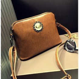 Wholesale-Vintage Retro Small Shell bag Burnished Leather Messenger Crossbody bag Ladies Shoulder Sling bags