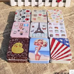 Wholesale New cute Small fresh Tin box gift case with strap Multi purpos