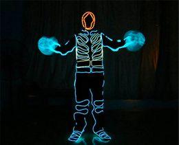 3M Flexible Neon Light Glow EL Wire Rope Tube Flexible Neon Light 8 couleurs parti Car Dance Party Costume de Noël + Controller Light Decor neon wire colors promotion à partir de couleurs des fils au néon fournisseurs