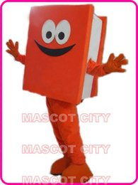 Wholesale New Custom Advertising Costumes Orange Recycled Notebook Mascot Costume Adult Cartoon Character Book Theme Mascotte Fancy Dress