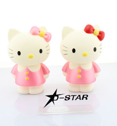 "Wholesale Cute Piggies - Free Shipping Cute 6.7"" Anime Hello Kitty Cartoon Money Bank Saving Pot Money Box Piggy Bank Color Red or Pink"