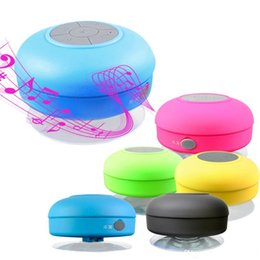 Portable Waterproof Wireless Bluetooth Speaker Shower Car Handsfree Receive Call mini Suction IPX4 speakers box player 6 colors