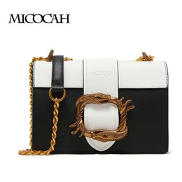 Snake Design Chain Bags For Women Zipper Pocket PU Leather Shoulder bag Female Cross Body Bags GH50011