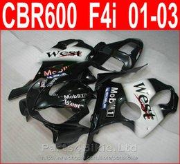 Wholesale Hot sale black west mobil bodywork for Honda fairing kit CBR600 F4i beauty Style fairings CBR F4i cbr600f4i XROS