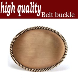 High quality western style blank agio hemp rope button edge copper plating smooth zinc alloy 4.0 cmBL005AB